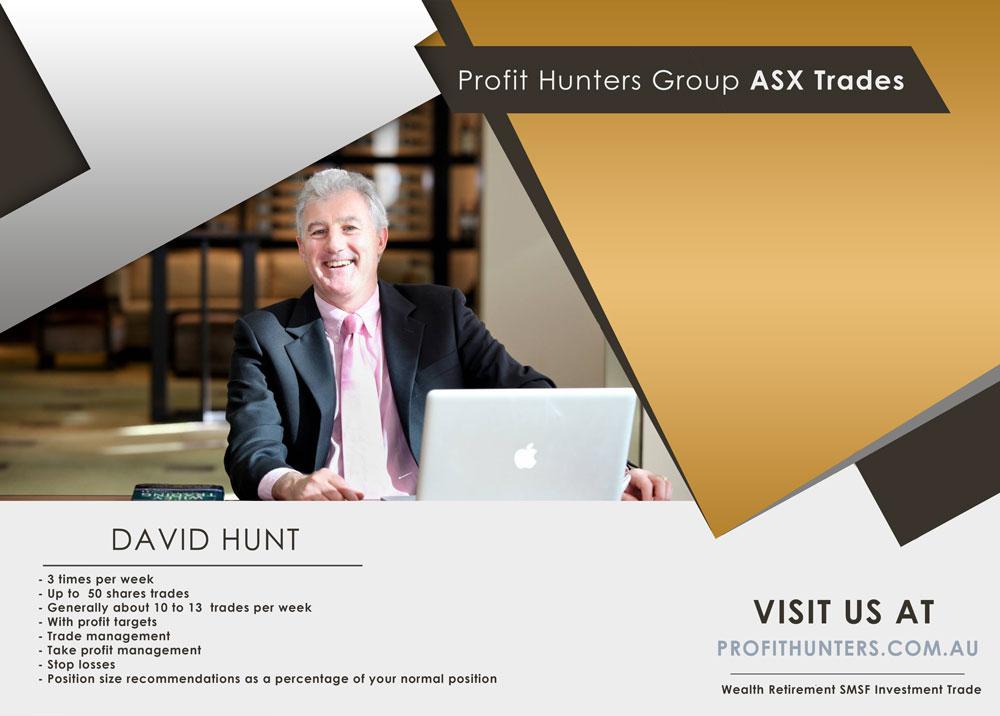 Stock Market - ASX Trades - Profit Hunters Group - David Hunt
